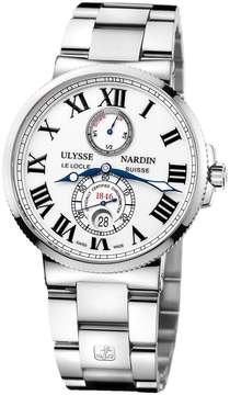 Ulysse Nardin Maxi Marine Chronometer White Dial Stainless Steel Automatic Men's Watch 263-67-7-40