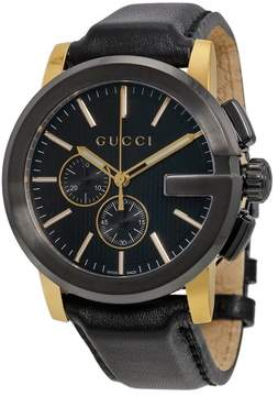 Gucci Men's YA101203 G-Chrono Leather Watch,
