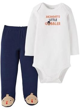 Carter's Infant Boys Mommys Little Gobbler Thanksgiving Turkey Outfit 3 Months