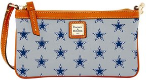 Dooney & Bourke NFL Collection Dallas Cowboys Large Slim Wristlet - GREY - STYLE