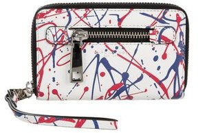 Marc Jacobs Leather Printed Wallet - WHITE - STYLE