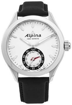 Alpina AL-285S5AQ6 Stainless Steel & Leather Quartz 44mm Mens Watch