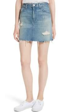 Celine 3x1 NYC Distressed Denim Skirt