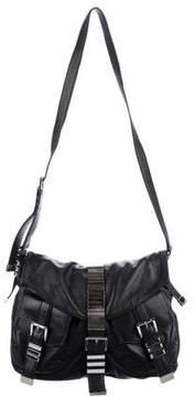 Michael Kors Distressed Leather Messenger Bag