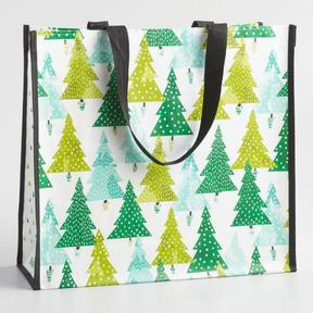 World Market Large Geometric Forest Tote Bag