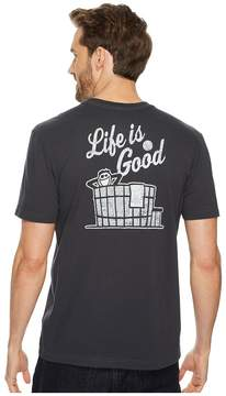 Life is Good Hot Tub Pocket Crusher Tee Men's Short Sleeve Pullover