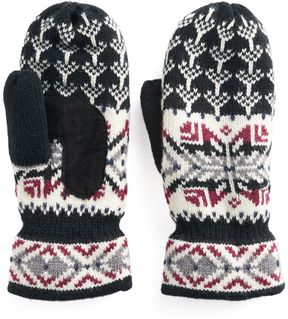 Isotoner Women's Knit Snowflake Mittens