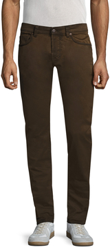 Gilded Age Men's Solid Buttoned Slim Jeans