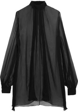 Alexander McQueen Silk-crepon Blouse - Black
