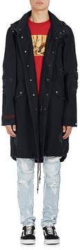 Ksubi Men's Distressed Cotton Canvas Trench Coat