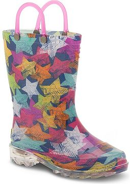 Western Chief Scribble Stars Lighted Rain Boot