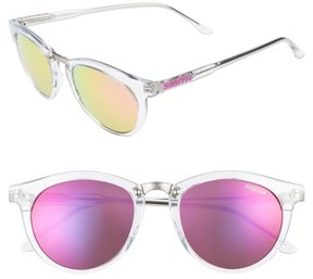 Smith Women's Questa 49Mm Mirrored Lens Sunglasses - Crystal/ Pink