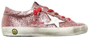 Golden Goose Deluxe Brand Super Star Glittered Leather Sneakers