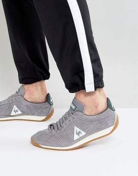 Le Coq Sportif Quartz Perforate Nubuck Sneakers In Gray 1720088