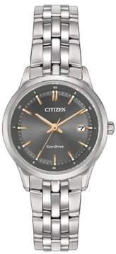 Citizen Eco-Drive EW2400-58H Black/Silver Analog Women's Watch