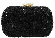 Sondra Roberts Sequin Box Evening Clutch