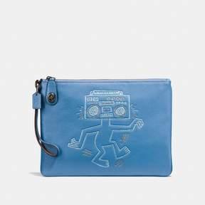 Coach X Keith Haring Turnlock Wristlet 30