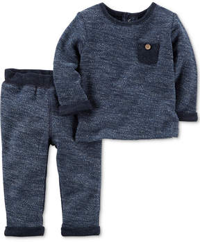 Carter's 2-Pc. Cotton French Terry Top & Pants Set, Baby Boys (0-24 months)