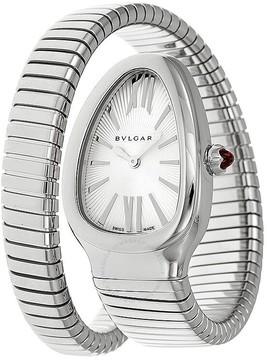 Bvlgari Serpenti Silver Opaline Dial Large Ladies Watch