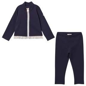 Moncler Girls Set Cardigan+Pant Navy