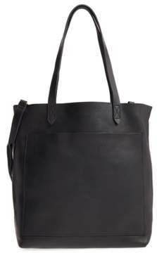 Madewell Medium Leather Transport Tote - Black