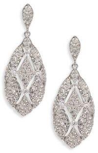 Adriana Orsini Naga Pave Drop Earrings