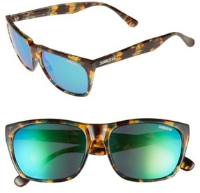 Smith Women's 'Tioga' 57Mm Polarized Sunglasses - Green Tortoise/ Green Sol
