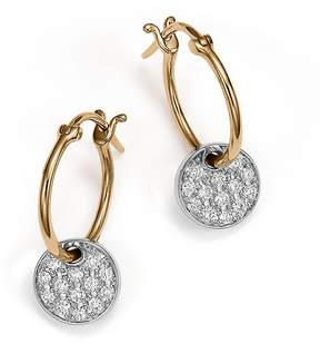 Bloomingdale's Diamond Micro Pavé Disc Drop Earrings in 14K White and Yellow Gold, .25 ct. t.w.