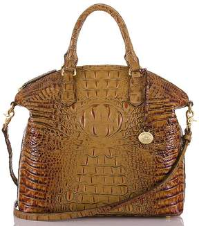 Brahmin Toasted Almond Collection Large Duxbury Crocodile-Embossed Satchel