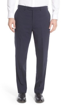 Hart Schaffner Marx Men's Flat Front Solid Stretch Wool Trousers