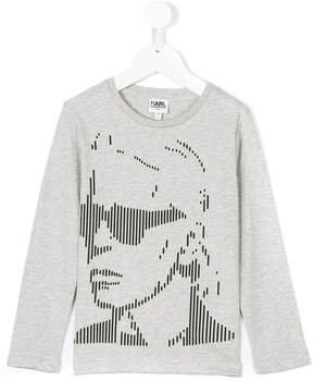 Karl Lagerfeld graphic long-sleeved top