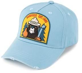 DSQUARED2 Men's Light Blue Cotton Hat.
