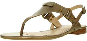 Lauren Ralph Lauren Lauren Ralph Women's Valinda-Sn-Csl Leather Safari Gold Ankle-High Sandal - 7M