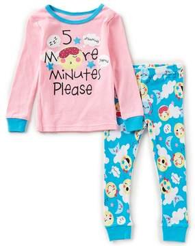 Us Angels Dream Life by Little Girls 2T-6X 5 More Minutes Cloud Top & Printed Pants Pajama Set