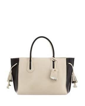 Longchamp Penelope Medium Colorblock Tote Bag - ECRU BLACK - STYLE