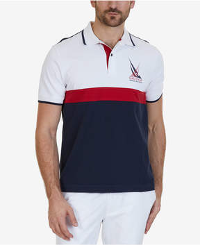 Nautica Men's Classic-Fit Colorblockeded Polo, A Macy's Exclusive Style