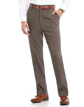 Roundtree & Yorke Big & Tall Flat Front Travel Smart Non-Iron Stretch Pants