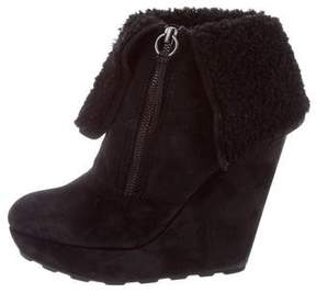 Ash Suede Wedge Boots