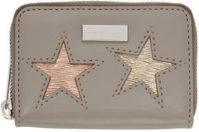 Stella McCartney Taupe Mini Stars Wallet