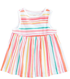 First Impressions Watercolor Striped Cotton Top, Baby Girls, Created for Macy's