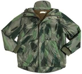 Stella McCartney Camouflage Print Hooded Nylon Jacket