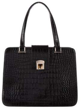 Etro Embossed Leather Tote