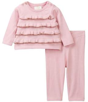 Kate Spade ruffle front sweater 2-piece set (Baby Girls)