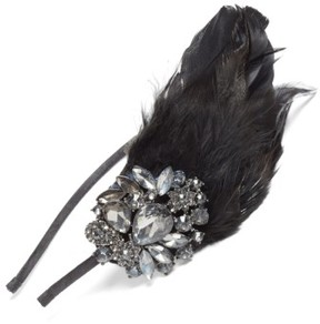 Tasha Crystal Feather Headband