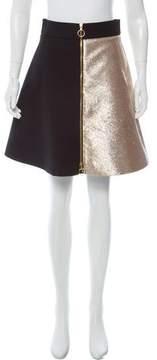 Fausto Puglisi Two-Tone Knee-Length Skirt
