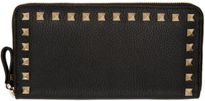 Valentino Black Garavani Rockstud Continental Wallet