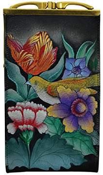 Anuschka Women's Genuine Leather Eyeglasses Case | Hand Painted Original Artwork |