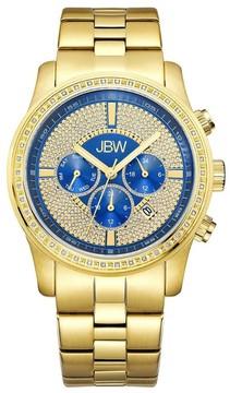JBW Vanquish Multi-Function Blue Dial Diamond Men's Watch