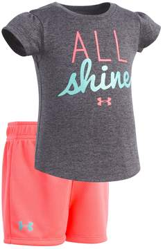 Under Armour Baby Girl All Shine Graphic Tee & Shorts Set