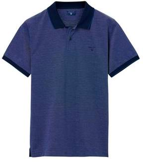 Gant Men's Purple Cotton Polo Shirt.